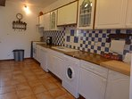 Fully equipped kitchen with dishwasher, washing machine, microwave & Krupps coffee machine