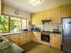 Main House kitchen fully equipped including hob and oven, fridge freezer, microwave and dish washer