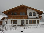 Front view of Chalet to rent in Filzmoos Ski Amade. Filzmoos is 70km south of Salzburg.