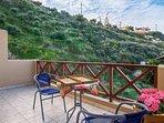 Avra Apartments, Sirokos, mountain view from 2nd balcony