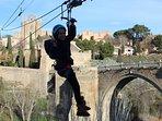 Tirolina en el Puente de San Martin