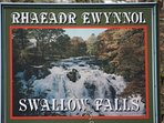 The famous Swallow Falls is only 5 miles from Penmachno.