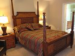 Enjoy our Queen 4 poster bed in the 2nd Master bedroom.