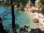 Garma - one of Podgora secret bays, 10 min walk from the house