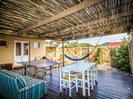 Entertainment deck with table tennis and alfresco dining