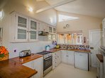Fully equipped kitchen including oven and hob, fridge freezer, microwave and dish washer