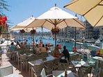 Restaurants on promenade in spinola and St.Julians bay