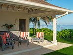 Cottage bedroom verandahs offer amazing sea-facing ocean views.