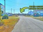 Beach Access Located Across the Street