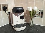 Tassimo pod Coffee Machine (note there's also a cafetiere)