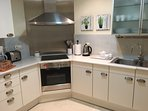 Fully fitted modern kitchen.