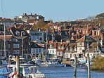 Two minutes walk away - watch the boats and eat freshly caught seafood at Lymington Quay