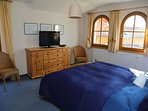 One of the bedrooms at chalet to rent in Filzmoos