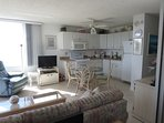 Beautifully remodeled kitchen and 32' flat srceen TV in the living room