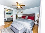 Master Bedroom with a King size bed, and great linen set.  Own ac unit and a Mountain view