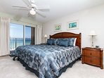 Welcome to the beach front master bedroom! King size bed, new be