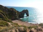 Dorset's famous Durdle Door just 5 minutes by car.