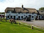 The Famous Sailors Return pub.. serving great food and drink. just 300 meters  from the cottage.