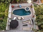 Backyard and Pool View