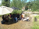 Relax in the Muddy Creek on a hot summer day!