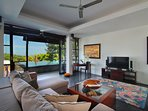 Main Indoor Living Room.  Upper Level, Villa Soma