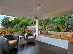 Lower Living Level Open Air Lounge - Villa Soma