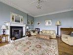 Lovely open fire in drawing room