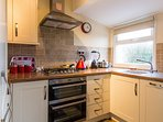 Modern kitchen at Lees Holiday Park.