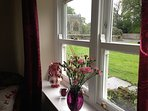 View from Caroline Cottage dining room window