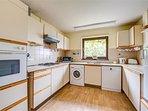 Quaint kitchen with sea views