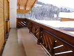 View from balcony outside bedrooms.