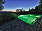 The lighted pool