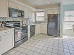 Appliances only 3 yrs. old. Small appliances furnished.Extras include blender and crock pot.