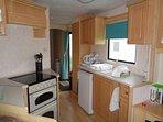 Caravan to hire at Cayton Bay Sleeps 8