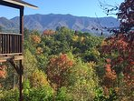 Colorful fall view from the deck