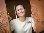 Meet our villa manager Jeab who speaks perfect English. Her Thai is pretty good too!!