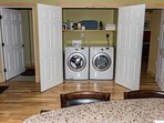 Washer and dryer are locate off the kitchen for easy access!