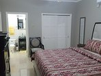 master bedroom equipped with security safe to lock away your personal and valuable possessions.