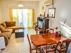 2BR Apartment 50m to the beach in tourist center. Closed complex with security.