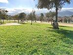 Vistas al chalet desde el parque
