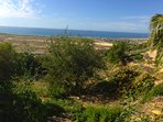View on Taghazout beach, Banana beach and Devils Rock
