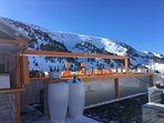 Restaurant at the top of the Soldeu Gongola and ski school.