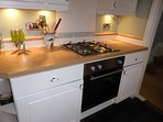 Kitchen - gas hob and electric oven