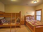 I letti a castello nel 'Teddy Bear Room' sono perfetti per i bambini.
