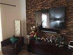 master bedroom large screen tv