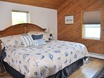 MBR, King bed, with walk-in closet, desk, air-conditioning, chest for extra blankets