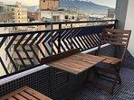 Balcone panoramico con vista Vesuvio e arredi