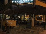 Banana's restaurant is the landmark to your stay at Casa la Joya