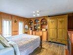 Main floor seasonal bedroom.  Great quiet sleeping space in the summer and fall