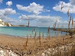 Mupe Bay on the Jurassic Coast of Dorset is a favourite walk from The Pink House Lulworth
